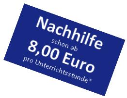 Nachhilfe schon ab 8 Euro pro Unterrichtsstunde*